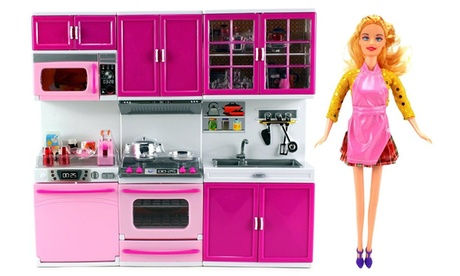 My Happy Kitchen Dishwasher Oven Sink Battery Operated Toy Doll Kitchen Playset d26968e7-e817-42f7-a5d0-d72dd14c5f9a