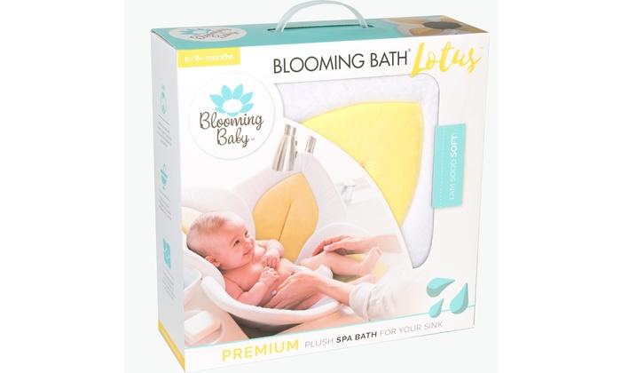 Bathing Mat Flower Bath Blooming Bath Lotus Baby Bath Gray