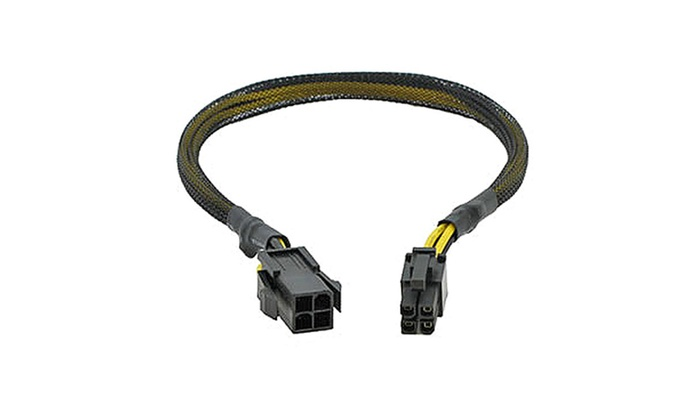 Works 22-100-41 4-Pin To Fan 3-Pin Cable Adapter, 14 5 in  Long