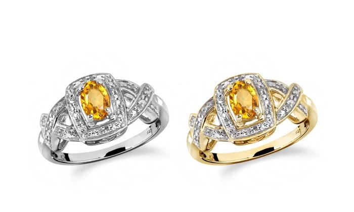 Jewelonfire 0 46 Ct Cit Amp 1 20 Ct White Dia Ring In Ss