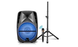 Technical Pro PQ12 Bluetooth Speaker with Microphone and Tripod Stand
