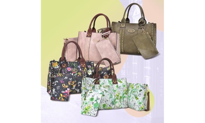 bc925ea31a27b6 MK Belted Collection Satchel Bag, Crossbody, and Wristlet Set (3-Pk ...