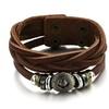 Leather Bracelets Wrap Bangle Wristband Adjustable Length