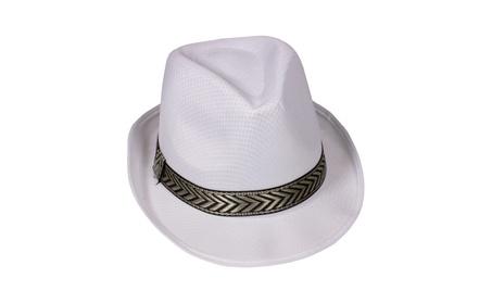 Windy City Novelties White Funky Fedora Party Hat