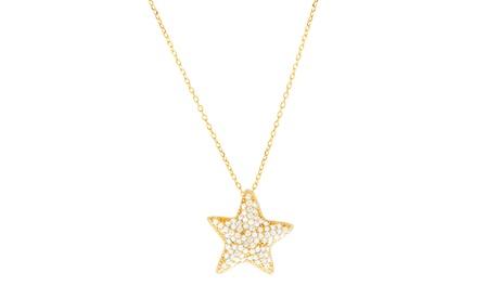 Sterling Silver Pave CZ Starfish Necklace c8cb5ac5-6852-4b5e-b391-39ab4bde45fa