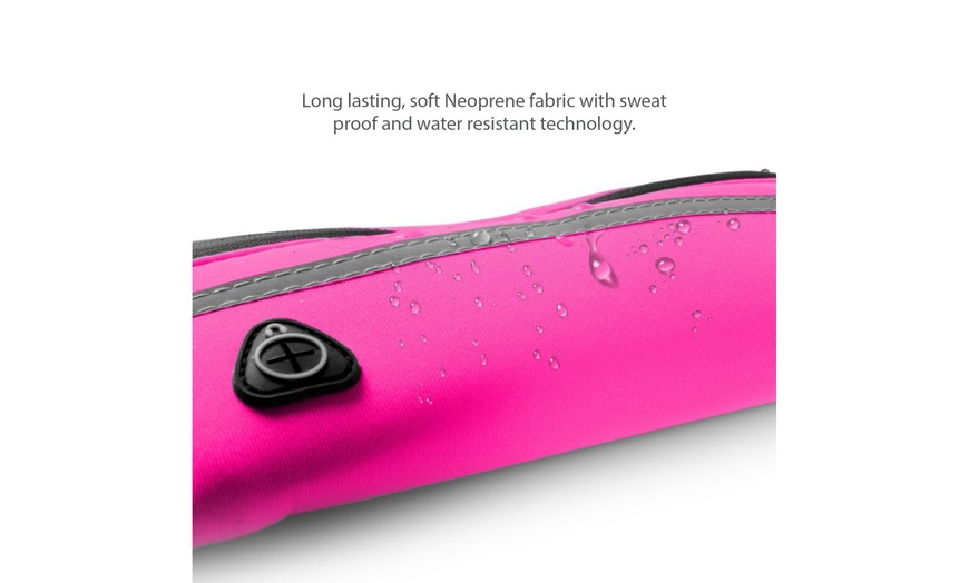 Waterproof Running Fanny Pack Hiking Neoprene Waist Fanny Bum Bag Pouch Pink