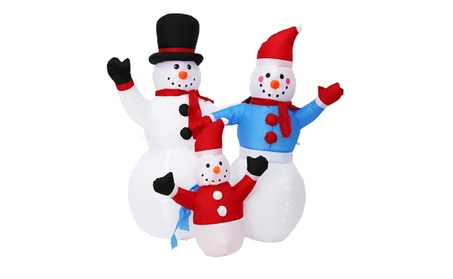 4' Christmas Inflatable Snowman Family Airblown Yard Outdoor Decor 03fa5c0d-fd45-482f-8081-1f50a46fff20