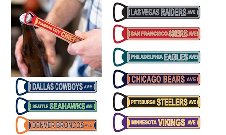 NFL Steel Bottle Opener 7 inch Magnetic photo