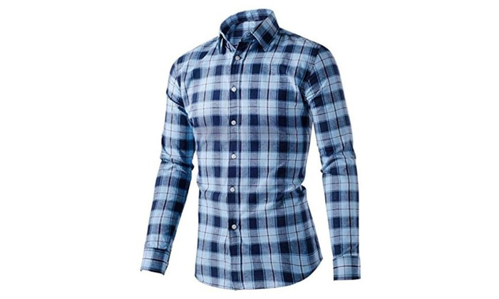 Men Dress Leisure Colorful Cotton Shirt Handsome Guy Casual Shirts