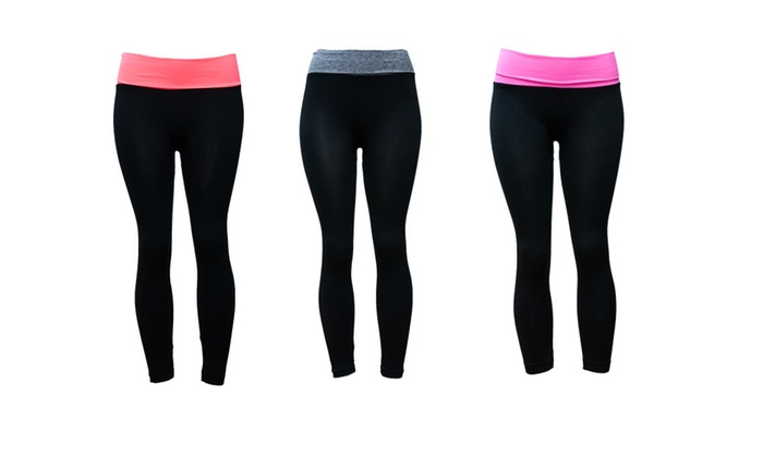 Riva USA Women's Yoga Capri Seamless Legging YC-1527 (3-pack)