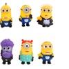 8PCS Minions Anime Action Figure Toy Sets Children Cartoon Model Toy