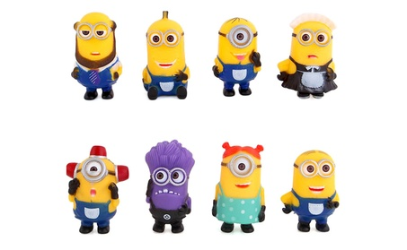 8Pcs Movie Minion Model Toy Set Character Action Toy Little Yellow Man 0f4d50f7-e935-4334-8a0d-daad1b0b9fa6