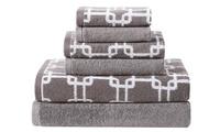 6-Piece Clairebella 100% Cotton Towel Set