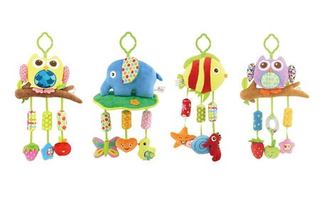 Baby Plush Animal Rattle Hanging Doll Rattle Ring Bell Education Toy 13379fc9-815f-422d-a111-550a566b7254