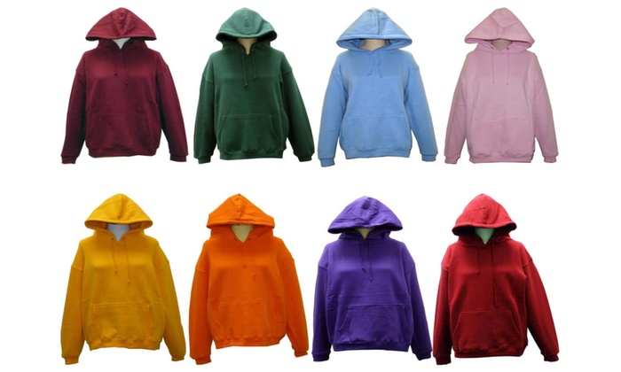 SPECIEN Adult Unisex 330 GSM and CVC Fabric Hooded Pullover Sweatshirt