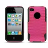 Insten Mesh Hybrid Rubberized Hard Plastic/Silicone Case For iPhone 4