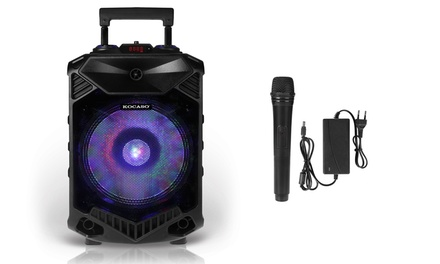 Kocaso Bluetooth Party Speaker with Color-Changing LED Lights & Microphone