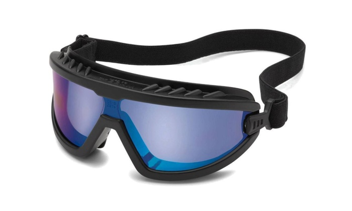 Gateway Wheelz Blue Mirror Safety Goggles Glasses Lightweight Compact