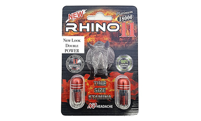 Rhino 11 Double Platinum 18000 Best Male Sexual Enhancement Pill