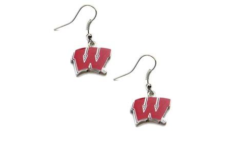 Wisconsin Badgers Dangle Logo Earring Set NCAA Charm Gift 42fd31dd-90f4-4db3-b311-7a03b56a2799