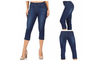 Women's Pull-On Stretch Denim Capri Jeggings Plus Size Available