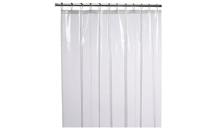 LiBa Mildew Resistant Anti Bacterial Shower Curtain Liner 72x72