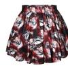 Women's Flared Stretch Soft Pleated Mini Dress Snowman Skirt