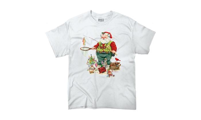 Fishing Santa With Toys T-Shirt