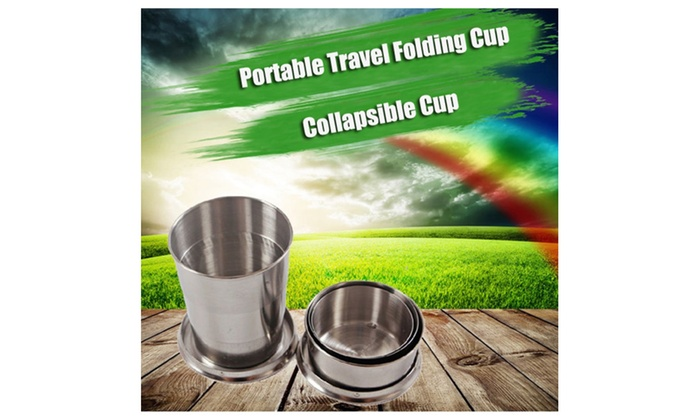 75ml Stainless Steel Outdoor Portable Travel Folding Cup