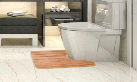 NewHome U Shaped Contoured Bathroom/Toilet Rugs, Non-slip, (23.62 x 19.69in)