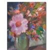 Sheila Golden Starry Night Bouquet Canvas Print 35 x 47