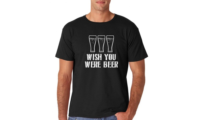 fd426d3c4 AW Fashions Wish You were Beer - Funny Drinking College Party Humor Men's