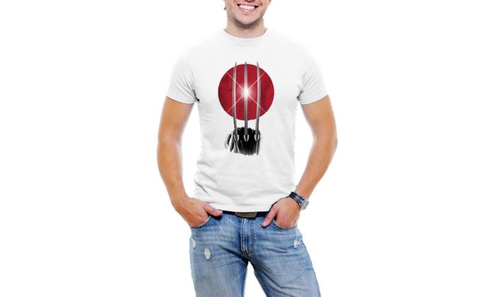 Marvel Wolverine Licensed Men T -Shirt Soft Cotton Short Sleeve Tee