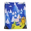 "Adventure Time Mountain Cinch Bag 13"", Blue/White Drawstring Bagpack"