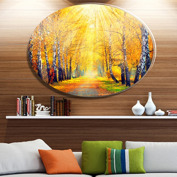 Up To 7 Off On Yellow Autumn Trees In Sunray Groupon Goods