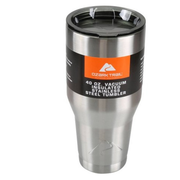 2909c2ddb79 Ozark Trail 40 oz Vacuum Insulated Stainless Steel Tumbler | Groupon