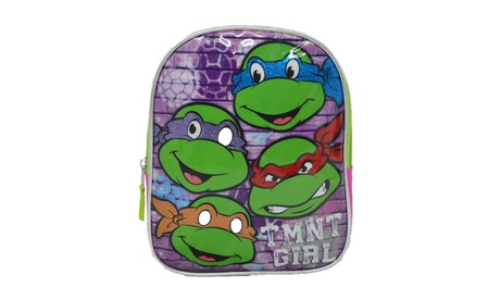 "Teenage Mutant Ninja Turtles TMNT Girl 10"" Mini Backpack Bag - Pink 33e9a761-e7f1-46c8-ad2b-d5448513650e"