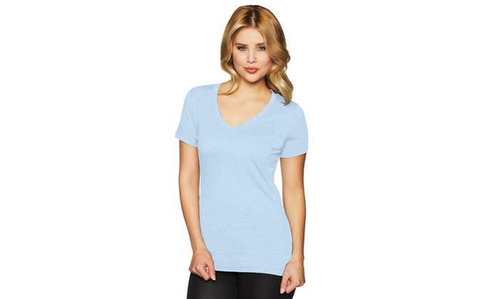 Next Level Womens V-Neck T-Shirt, 6044-2