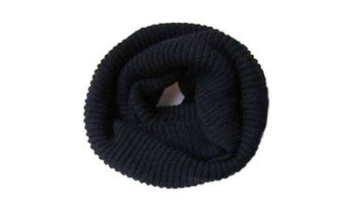 Infinity 2 Circle Cable Knit Cowl Neck Long Scarf Shawl