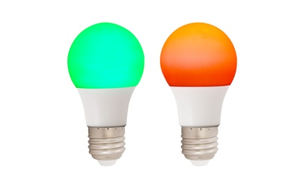 Red and Green Holiday LED Light Bulbs (2 Pack)