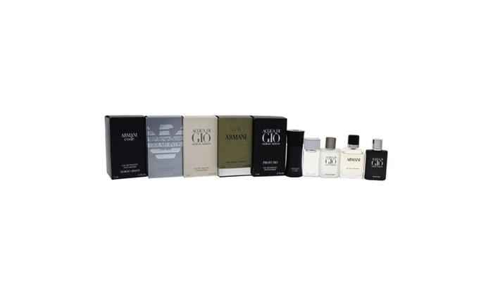 Giorgio Armani Variety Fragrance Set For Men 5 Piece Groupon