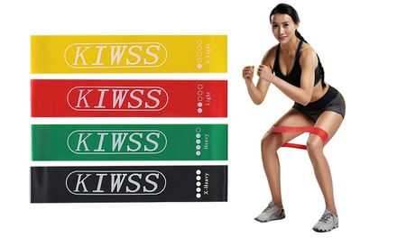 Yoga Gym Fitness Power Heavy Duty Resistance Loop Bands (set of 4)