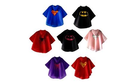 Kids Waterproof Rainwear Superhero Batman Spiderman Raincoat With Hat 280016b5-cb45-4eb2-af7c-c246a756971e