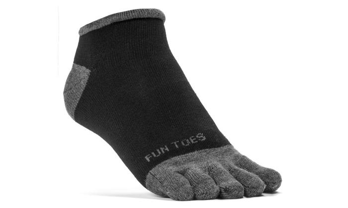 FUN TOES Men Lightweight Toe Socks  6 Pairs Pack