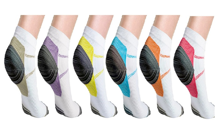 Arch Support Low Cut Running Gym Compression Foot Socks