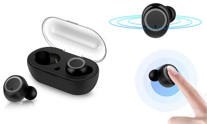 Up To 73 Off On Wireless Earbuds Bluetooth 5 Groupon Goods