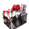 Mesh Flatware And Utensil Caddy with a Carrying Handle