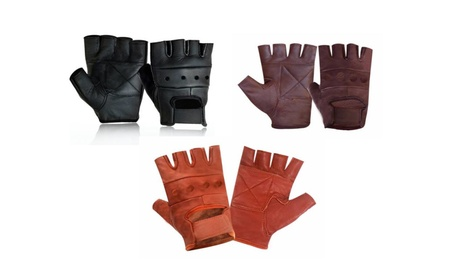 Mens Fashion Leather Fingerless Driving Motorcycle Biker Gloves a62511d5-15cf-4386-92e7-cf06cf1cab4f