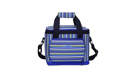 MIER 18 Can Insulated Cooler Bag Adult Lunch Box Stripe Freezable Bag ba90e41d-8e8c-49a0-bbef-293ace069727