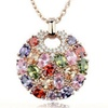 Crystal Round Multicolor Pendant Necklace for Women
